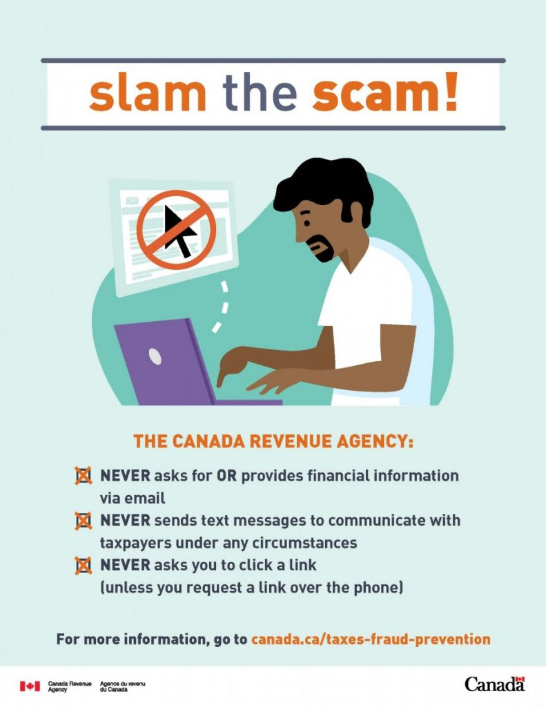 Slam the scam – Protect yourself against CRA fraud